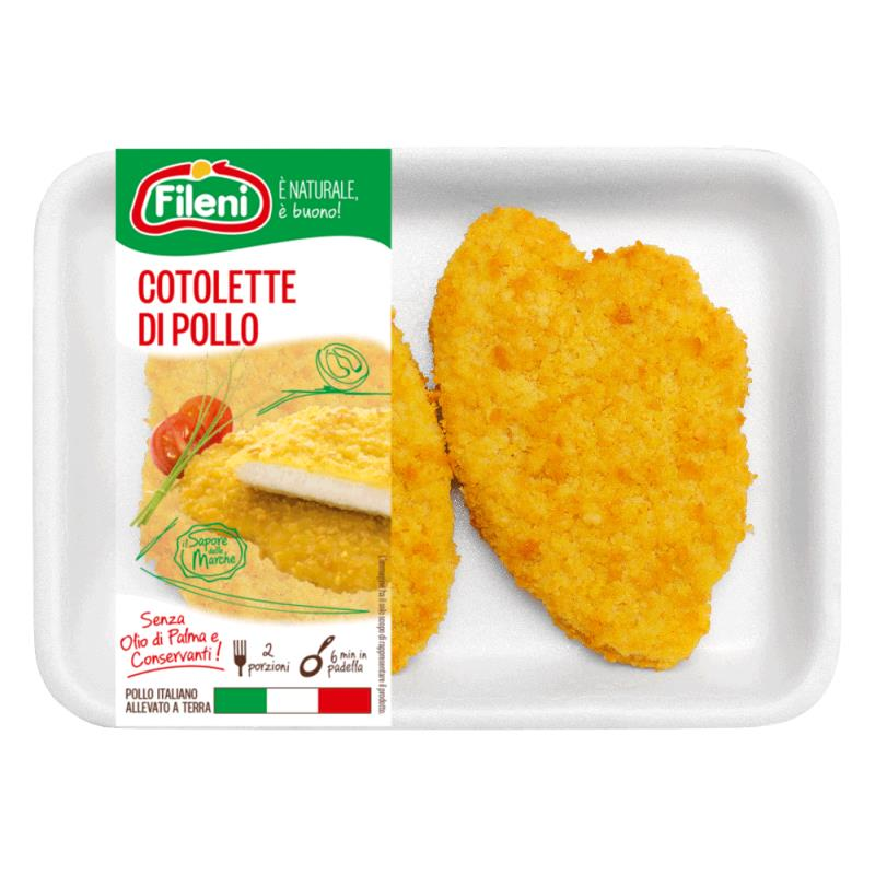 Pollo Cotoletta Fileni Gr.100 Cong.